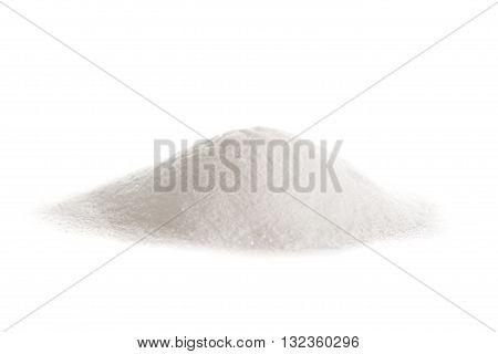 Vitamin C powder ascorbic acid on white background