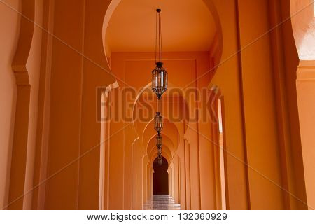 Selective focus point on Vintage light lamp decoration - vintage effect