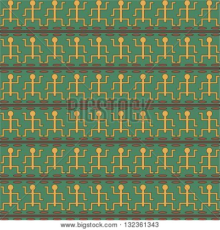 Tribal art Egyptian vintage ethnic seamless pattern. Egypt borders. Folk abstract repeating background texture. Cloth design. Wallpaper