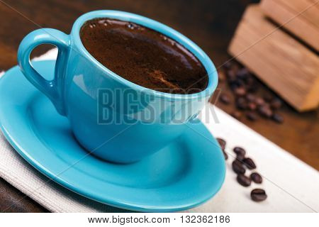 Cup Of Coffee With Cofee Beans