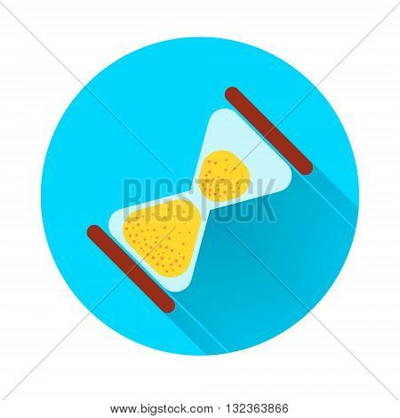 Symbol sandglass hour glass vector illustration flat design