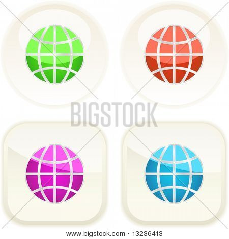 World button set. Vector collection.