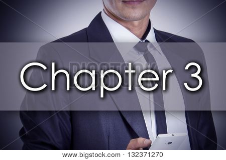 Chapter 3 - Young Businessman With Text - Business Concept