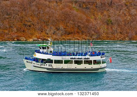 Ferry Maid Of The Mist In The Niagara River