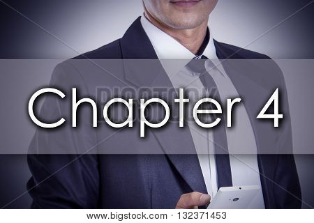 Chapter 4 - Young Businessman With Text - Business Concept