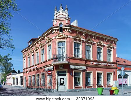 Old Building In The Center Of Ventspils In Latvia