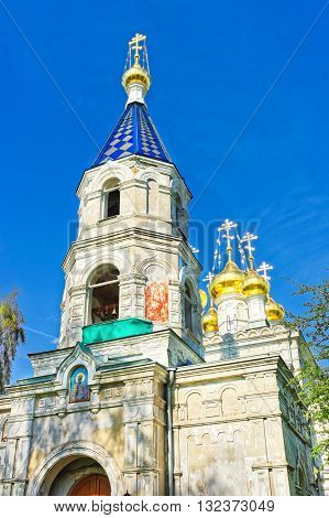 Belfry Of St Nicholas Orthodox Church In Ventspils In Latvia