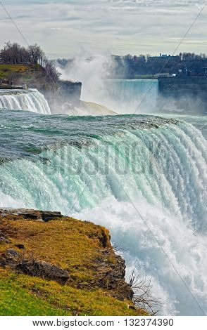 Niagara Falls Viewed From American Side