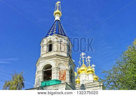 Belfry Of St Nicholas Orthodox Church In Ventspils