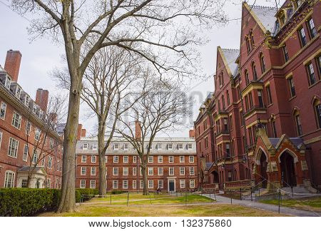 Dormitories And Harvard Computer Society In Harvard Yard