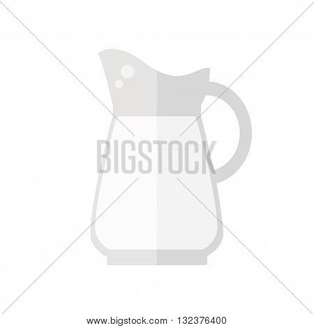 Milk jug icon. Milk jug isolated icon on white background. Fresh milk. Healthy drink. Flat style vector illustration.
