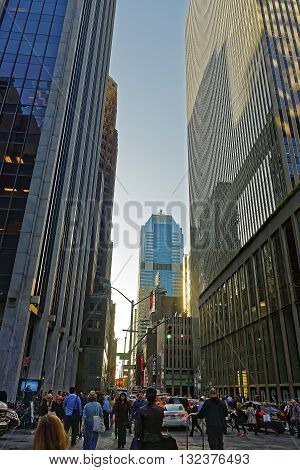 Sixth Avenue, And West 47Th Street In Midtown Manhattan