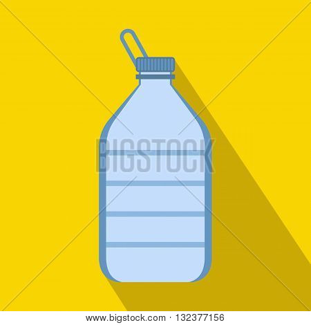 Large bottle of water icon in flat style with long shadow. Drink symbol