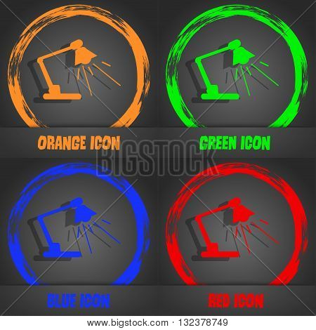 Reading-lamp Icon. Fashionable Modern Style. In The Orange, Green, Blue, Red Design. Vector