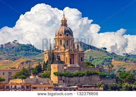 ITALY SICILY MESSINA 28.09.2009: Cityscape of Messina Sicily Italy
