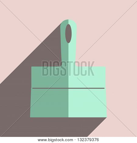Flat icons with shadow of trowel. Vector illustration