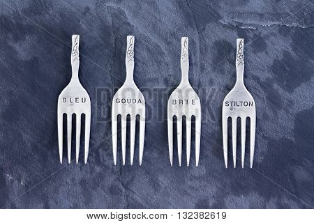 Four Stainless Steel Tops Of Forks
