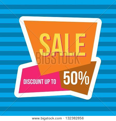Stock Vector Illustration. Sale vector banner - discount 50 off. Limited time only. Sale banner design. Sale layout. Sale background. Sale poster. Discount layout. Sale flyer. Sale sticker.