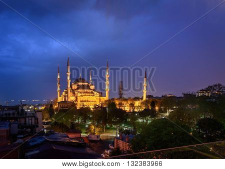 The Fatih Mosque is named after Ottoman sultan Mehmet the Conqueror known in Turkish as Fatih Sultan Mehmet. Istanbul Turkey.
