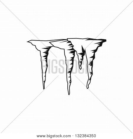 Icicles icon in simple style isolated on white background