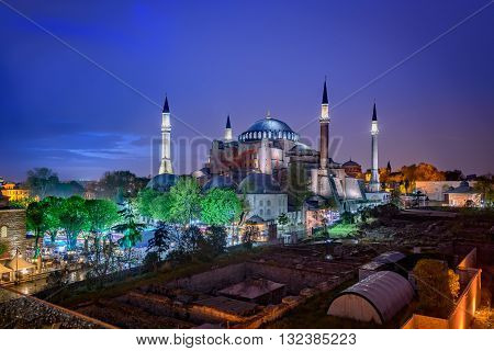 Hagia Sophia is a great architectural beauty and an important monument both for Byzantine and for Ottoman Empires. Istanbul Turkey