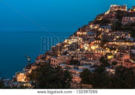 Evening in Positano, the fabulous town on Amalfi Coast