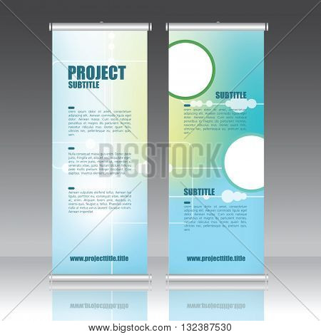 Roll up banner template- presentation design