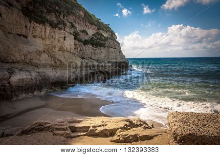 Amazing beach near the town of Tropea, Calabria, Italy