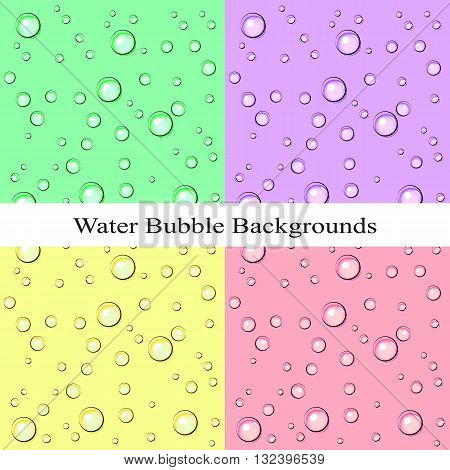 Vector illustration of the water background with bubbles