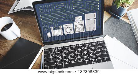 Circuitry Contemporary Electric Technology Tech Concept