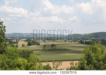 The green farmland of France's Dordogne region