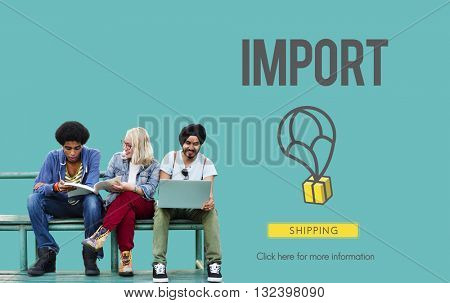 Import Freight International Logistics Merchandise Concept