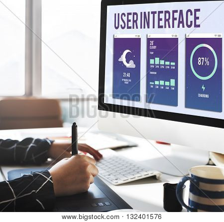 User Interface Operating System Electronic Technology Concept