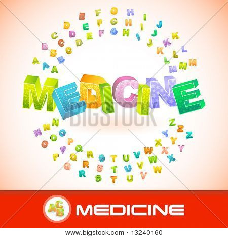 MEDICINE. Vector 3d illustration.