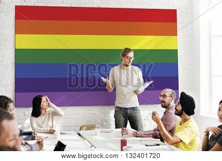 Rainbow Symbol Love Free Homosexual Concept