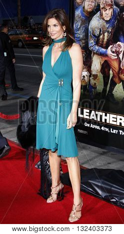 Cindy Crawford at the World premiere of 'Leatherheads' held at the Grauman's Chinese Theater in Hollywood, USA on March 31, 2008.