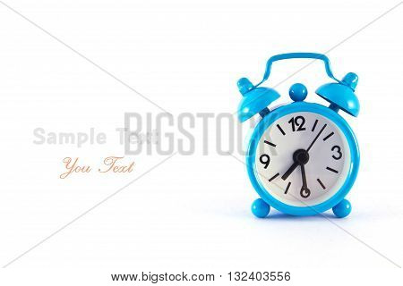 Alarm clock isolated on white, wake up, watch