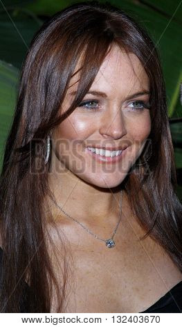 Lindsay Lohan at the Scandinavian Style Mansion held in Beverly Hills, USA on March 14, 2008.