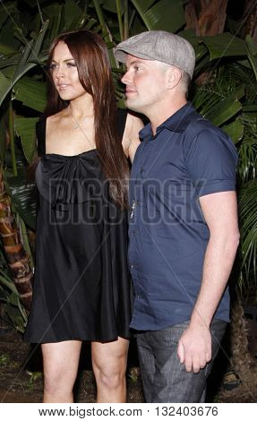 Lindsay Lohan and Claus Hjelmbak at the Scandinavian Style Mansion held in Beverly Hills, USA on March 14, 2008.