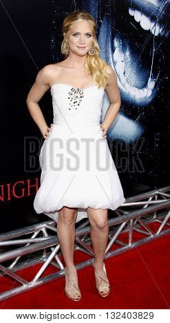Brittany Snow at the World premiere of 'Prom Night' held at the Arclight Theater in Hollywood, USA on April 9, 2008.