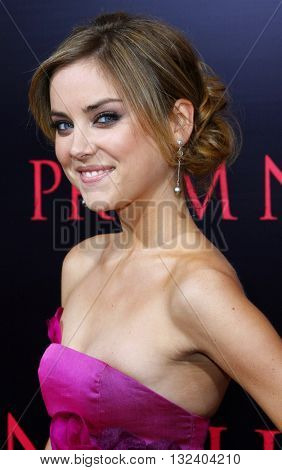 Jessica Stroup at the World premiere of 'Prom Night' held at the Arclight Theater in Hollywood, USA on April 9, 2008.