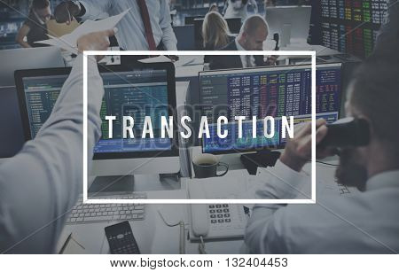 Transaction Dealing Finance Business Operation Concept