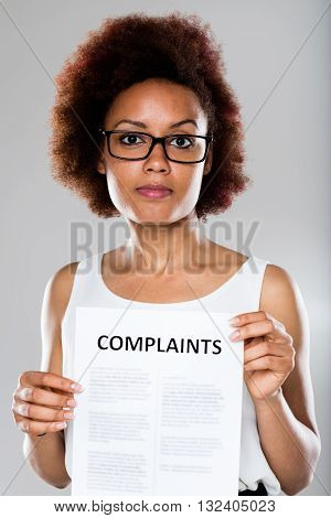 Young Woman Complaining And Disappointed