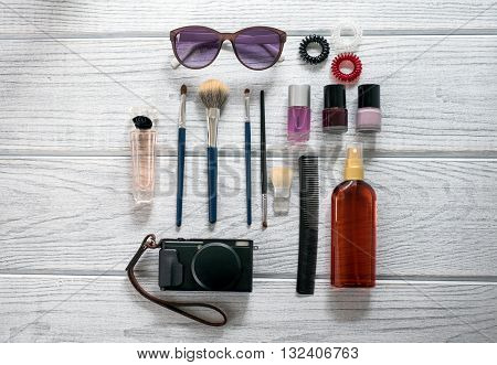 Women's Accessories, Cosmetics, A Camera