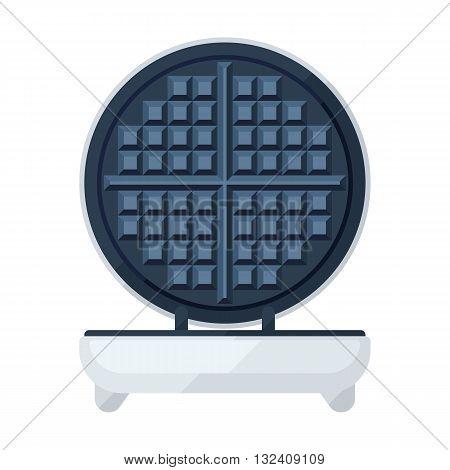 Waffle maker of waffle iron flat icon