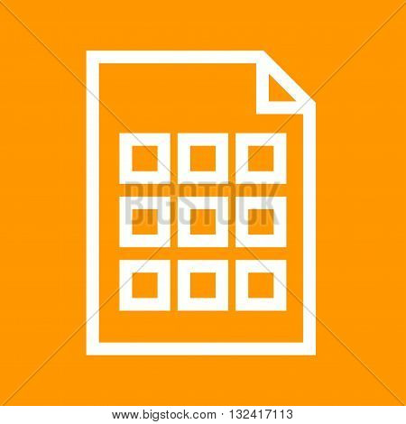 Grid view, touch, smart icon vector image. Can also be used for data sharing. Suitable for mobile apps, web apps and print media.