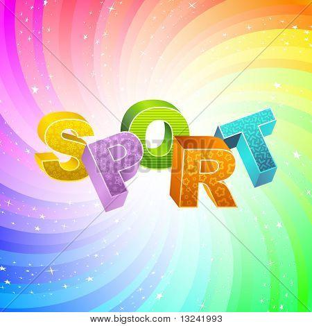 SPORT. Vector 3d illustration.