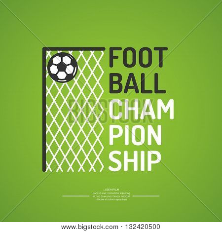 Poster for the football championship. Vector illustration.