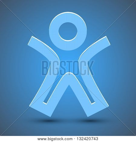 Simple pictograph of success people icon. Vector illustration