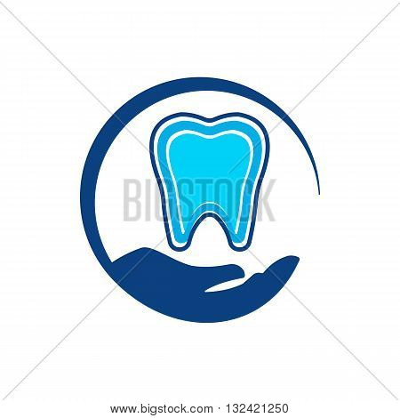 design dental icon tooth medical clinic concept illustration protection oral